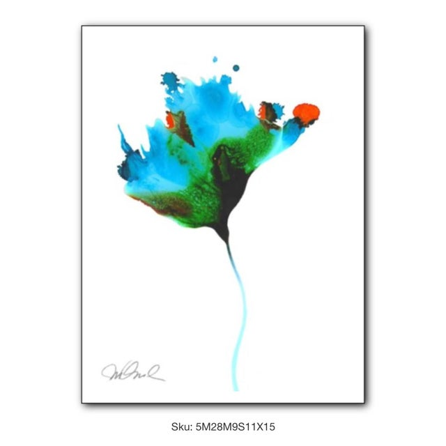 These floral prints are abstractions inspired by the color and organic beauty of the flowers I see everyday in the spring...