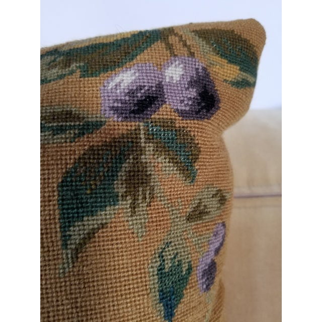 Vintage Needlepoint Floral Pillows - a Pair For Sale In Raleigh - Image 6 of 11