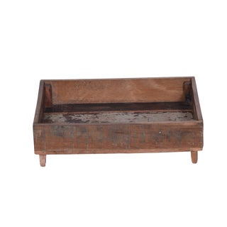 Fortney Rustic Style Wooden Serving Tray For Sale