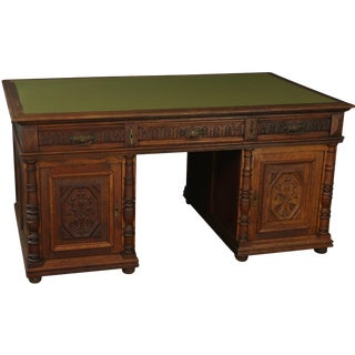 Partners Desk Renaissance Antique French 1900 For Sale