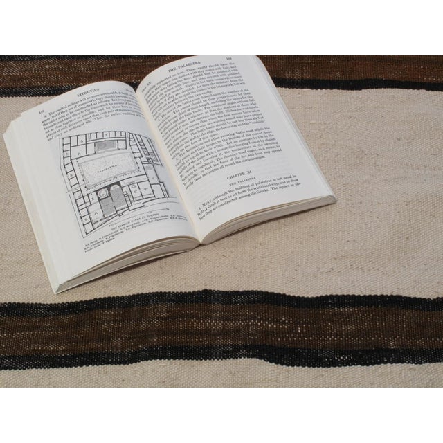 Textile Banded Kilim Wide Runner For Sale - Image 7 of 7
