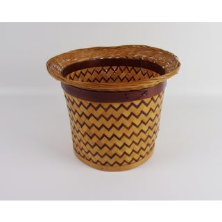 Vintage Boho Chic Bamboo Planter Basket Preview