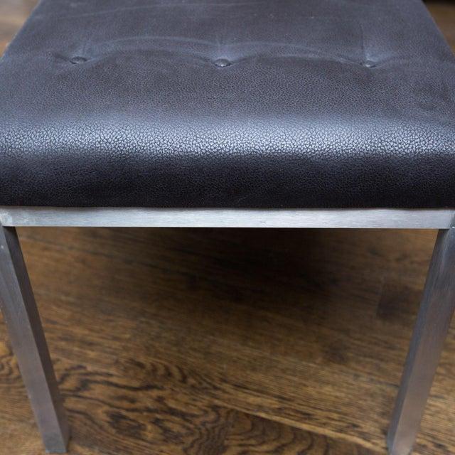 j.g. Furniture Brushed Aluminum Bench - Image 5 of 7