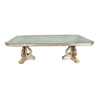 Silvered & Mirrored Dining Table C.1940's For Sale
