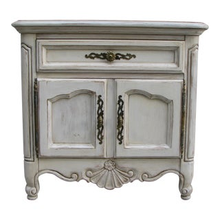 Painted Antique White Traditional Nightstand, For Sale
