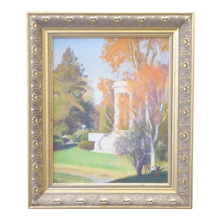 Vintage Ingbretson Oil Painting of Mary Baker Eddy Memorial For Sale