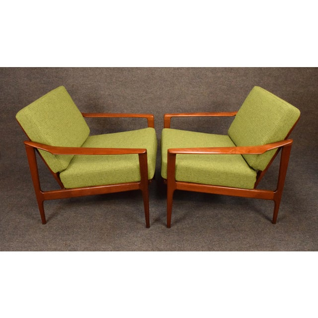 1960s Mid Century Modern Teak Lounge Chairs - a Pair For Sale - Image 4 of 11