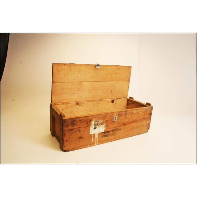 Vintage Wood Military Ammunition Trunk - Image 6 of 11