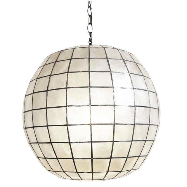 Capiz Globe Lantern - Image 1 of 3