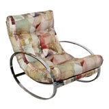 Image of Mid Century Renato Zevi Chrome Elliptical Rocking Chair For Sale