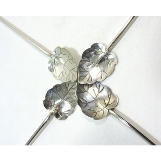Sterling 'Silver Leaf' Drink Stirrers or Cocktail Straws - Set of Four (Mexico) Preview