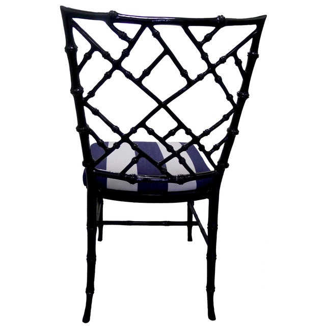 Kessler Black Bamboo-Style Dining Chairs - Set of 6 - Image 6 of 7