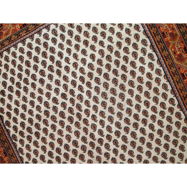 Vintage Handmade Indian Seraband Style Rug - 4′ × 5′8″ - Image 9 of 10