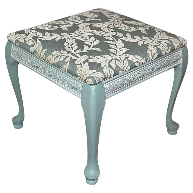 Queen Anne-Style Painted Footstool - Image 1 of 5