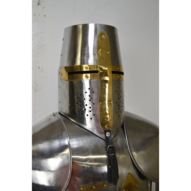 Crusader Knight Authentic Full Size Replica Jousting Suit of Armor For Sale - Image 10 of 11