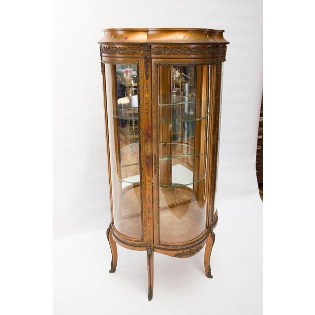Gilded Vitrine Curio Cabinet For Sale In Chicago - Image 6 of 10