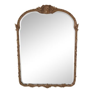 Friedman Brothers Beveled Glass Gold Mirror For Sale