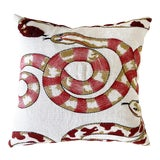 """Image of Forsyth Pierre Frey Venimeuses Embroidered Linen Pillow, 18"""" For Sale"""