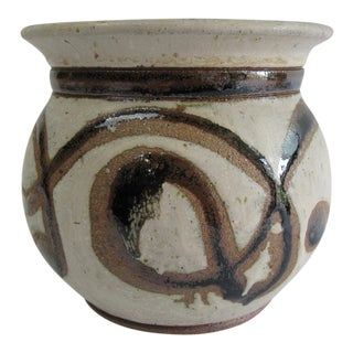 Mid-Century Studio Pottery Planter For Sale