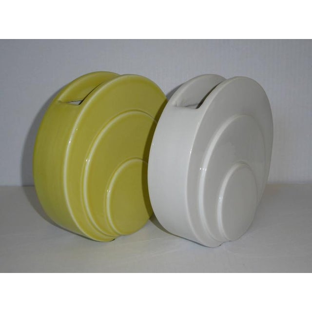 1930s Art Deco TAC Circlet Disc Vases Trenton Potteries - Image 3 of 9