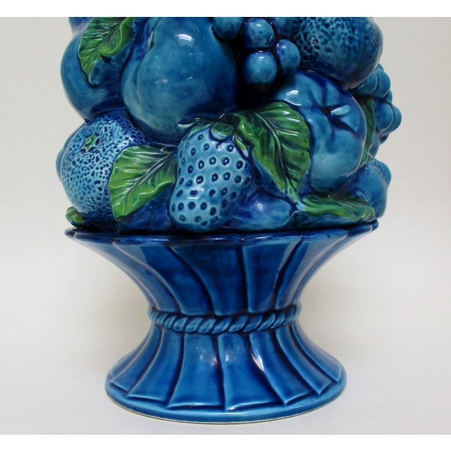 Vintage Porcelain Fruit Topiary For Sale - Image 4 of 9