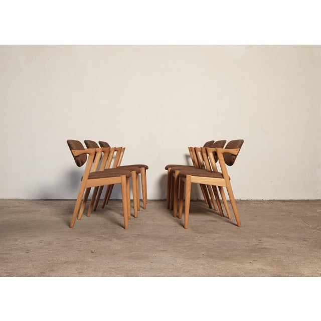 Set of Six Model 42 Oak Dining Chairs by Kai Kristiansen, Denmark, 1960s For Sale - Image 6 of 9