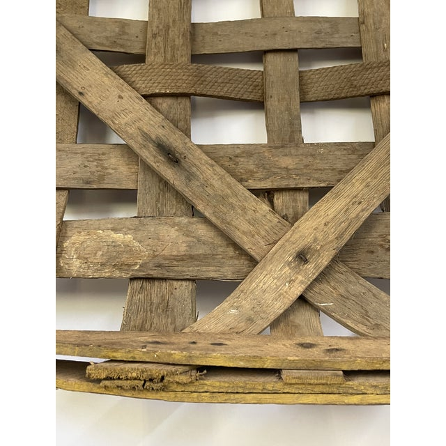 Large Authentic Antique Tobacco Basket For Sale - Image 9 of 12