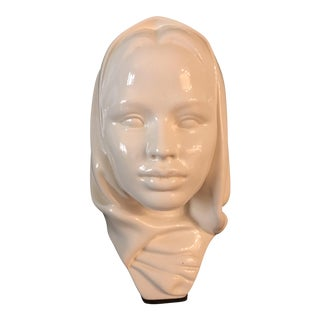 Girl Woman With Headscarf Bust Sculpture
