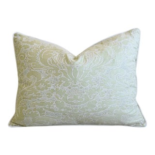 """Italian Mariano Fortuny Corone Feather/Down Pillow 24"""" X 18"""" For Sale"""