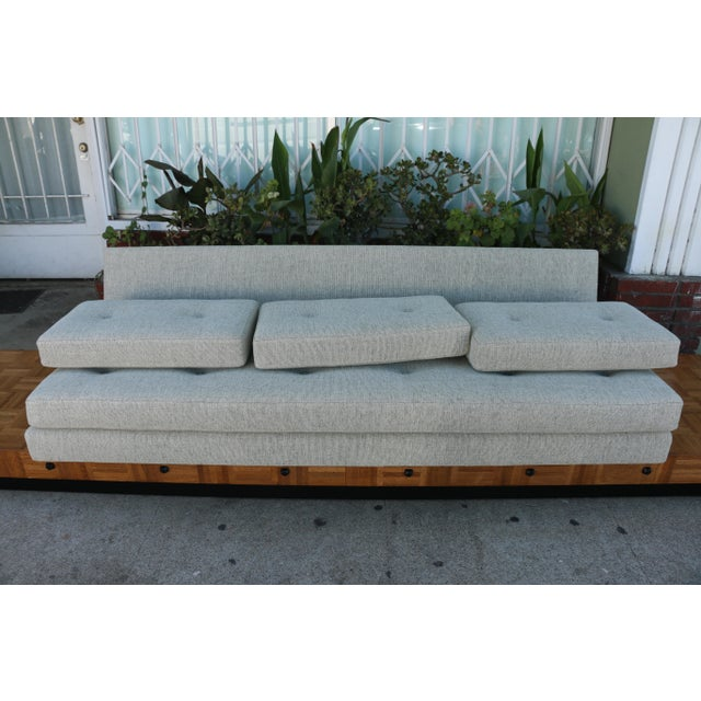 1960s Adrian Pearsall Patched Burlwood Platform Sofa For Sale - Image 5 of 12