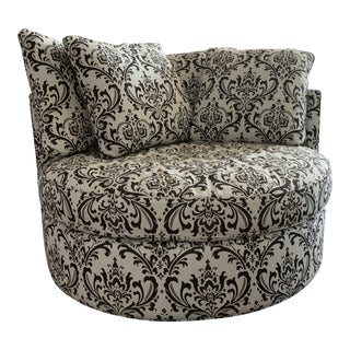 Arhaus Round Swivel Chair For Sale