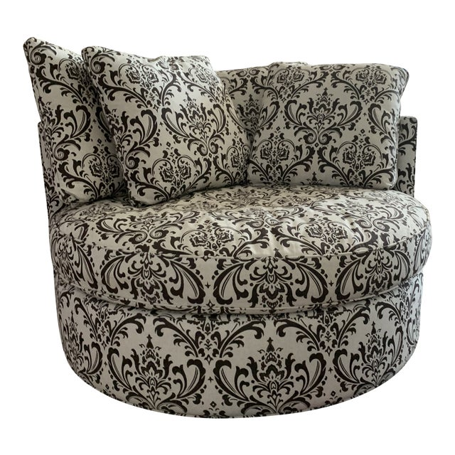 Astonishing Arhaus Round Swivel Chair Onthecornerstone Fun Painted Chair Ideas Images Onthecornerstoneorg