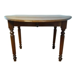 Early 20th Century Primitive Drop Leaf Solid Pine Center Table