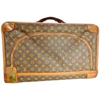 1970's Vintage Louis Vuitton Soft Case Overnight Luggage For Sale