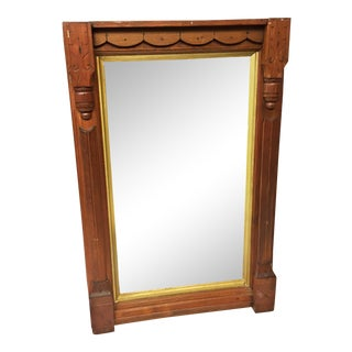 Antique Eastlake Carved Wood Wall Mirror