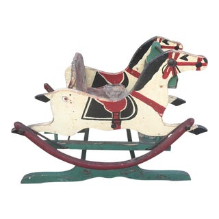 Late 1800s Victorian Double Rocking Horse