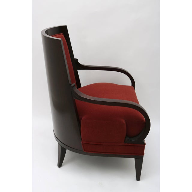 Late 20th Century Lucien Rollin Collection Art Deco Armchair by William Switzer Showroom For Sale - Image 5 of 11