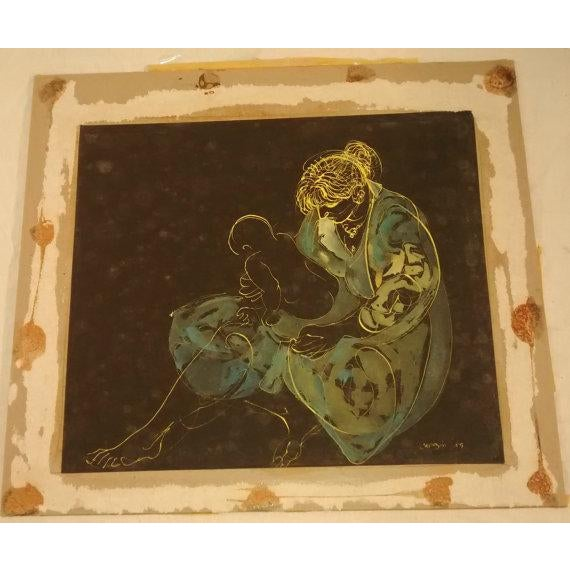 Abstract Painting Joe Capozio Woman Child For Sale - Image 5 of 7