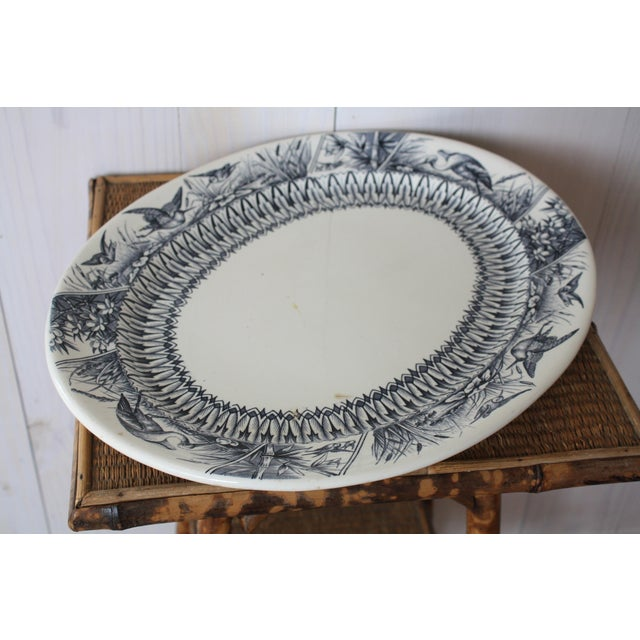 Asian Late 19th Century Antique English Transferware Platter For Sale - Image 3 of 13