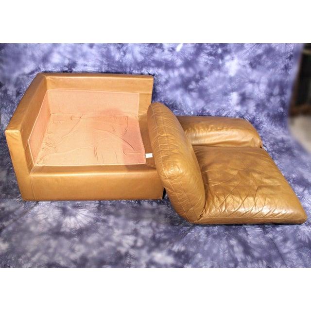 Rare Zanotta Italy Lounge Corner Chair - Image 3 of 4