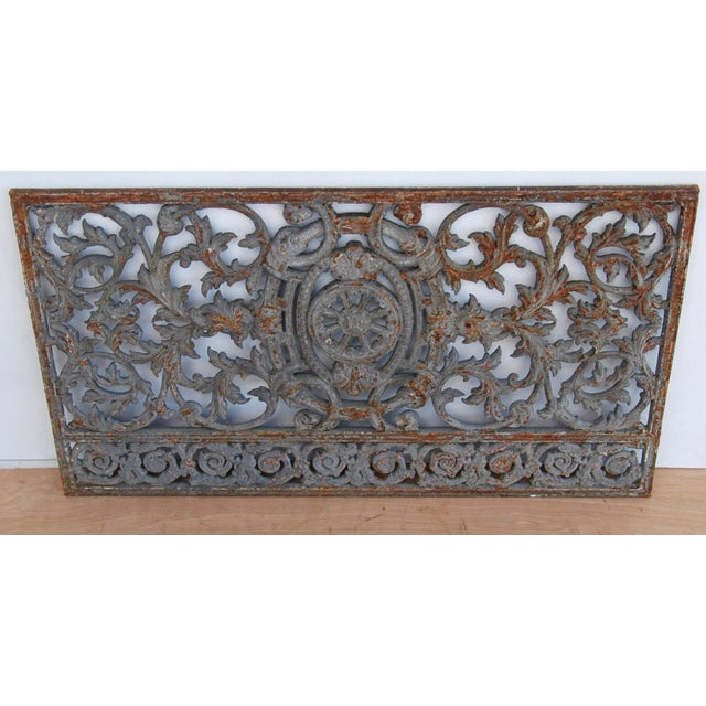 Antique 19th C. French Iron Architectural Panel - Image 7 of 11