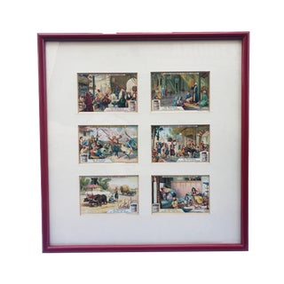 """Orientalist Six Print Framed 16"""" H by 15"""" W For Sale"""