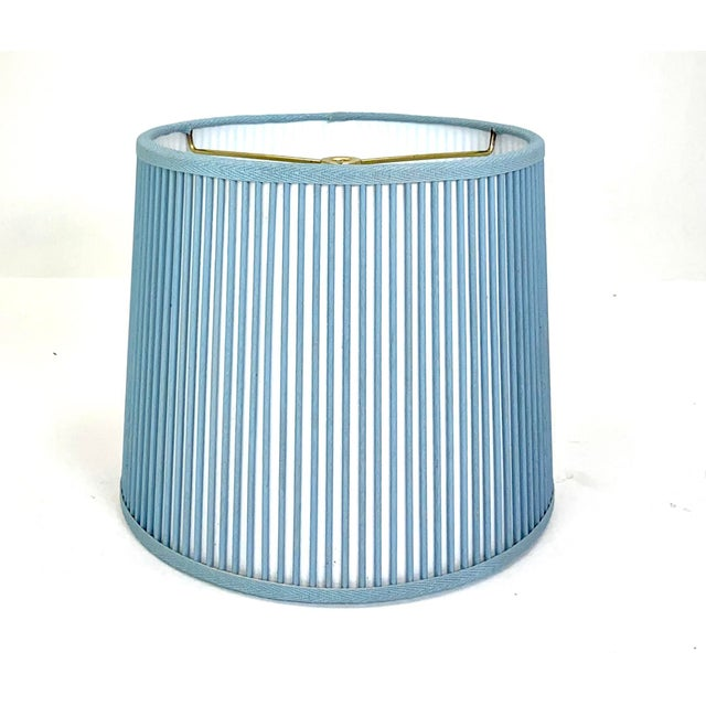 """Not Yet Made - Made To Order Retro Drum Stick Shade in Solid Light Blue, 10"""" For Sale - Image 5 of 5"""