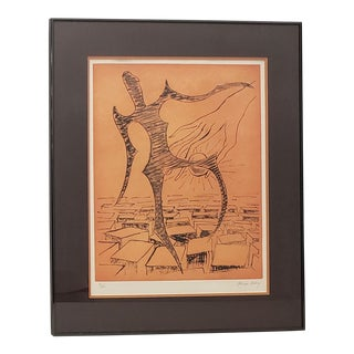 "Man Ray (American, 1890-1976) ""Rebus"" Original Pencil Signed Etching C.1972 For Sale"
