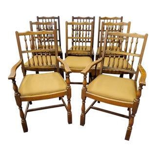Antique 19th Century Lancashire Dining Chairs - Set of 8 For Sale