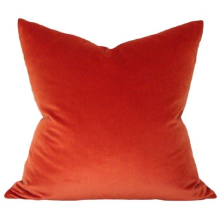 Contemporary Rust Velvet Pillow For Sale