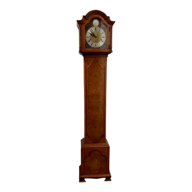 Vintage Tall Case Clock by Elliott, England For Sale