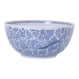 Blue and White Porcelain Bowl For Sale