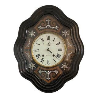 19th Century Napoleon III Oeil De Boeuf French Wall Clock For Sale