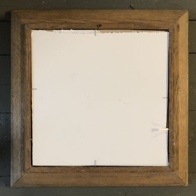 Vintage Original Charcoal Study Drawing Modernist Wood Frame 1940's For Sale - Image 4 of 5